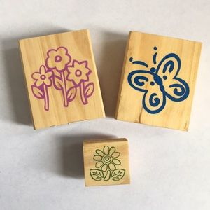 Flowers, Butterfly Stamp Set